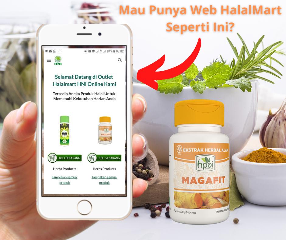 Gambar Promosi Bikin Web HNI Halal Mart