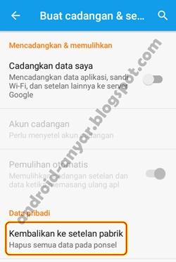 Trik Hard Factory Reset Android