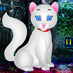 Play Games4King - G4K White Kitten Escape Game