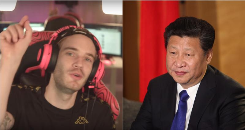 Xi Jinping, Winnie the Pooh, PewDiePie