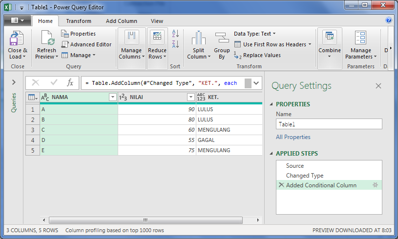 Power Query Editor