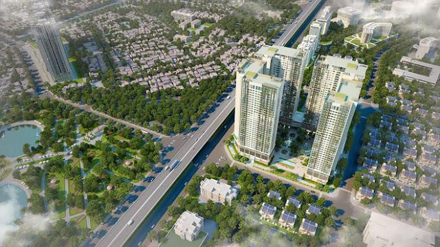 Góc nhìn tổng thể dự án Eco green city