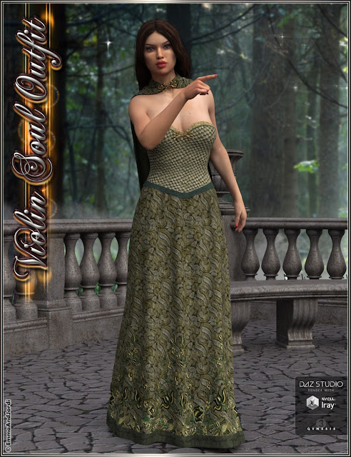 Violin Soul Outfit For Genesis 3 Female