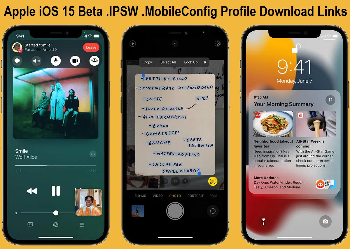 Download iOS 15.1 Beta IPSW