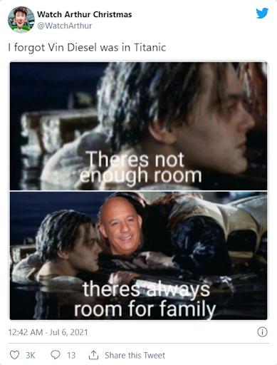 vin diesel titanic memes