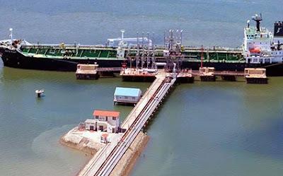 Kipevu oil terminal in Mombasa, KPA.