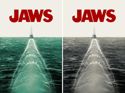 JAWS Movie Poster Screen Print by Doaly x Vice Press x Bottleneck Gallery