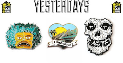 San Diego Comic-Con 2020 Exclusive Yesterdays Enamel Pins by Tom Whalen, Alex Pardee & More!