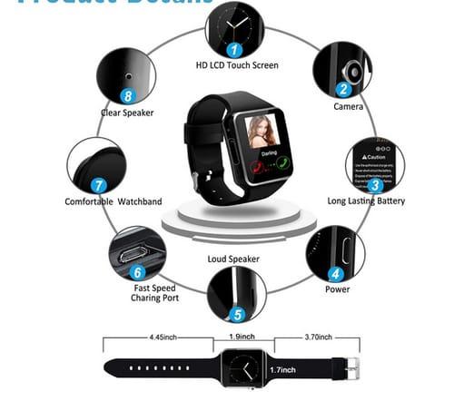 iFuntecky Vecot Bluetooth Smart Watch with Camera