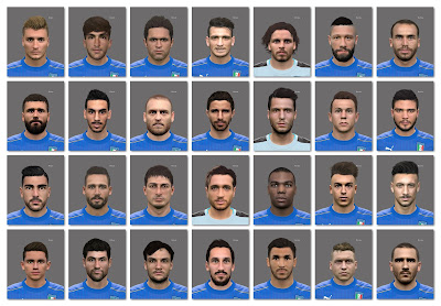 PES 2016 FACEPACK ITALY EURO 2016 (28 Players)