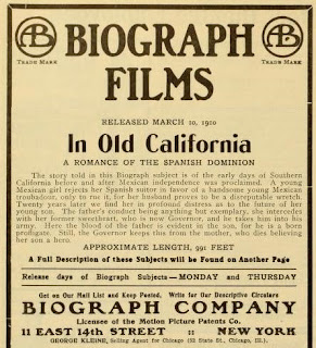 In Old California, cartel de la película - 1910