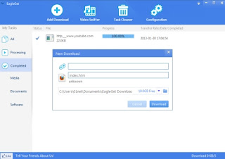 EagleGet,un gestionnaire de téléchargement gratuit
