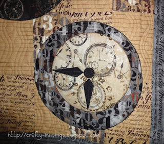 Watch the Clocks, quilting detail