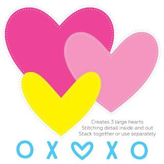 PIERCED XOXO HEART DIES
