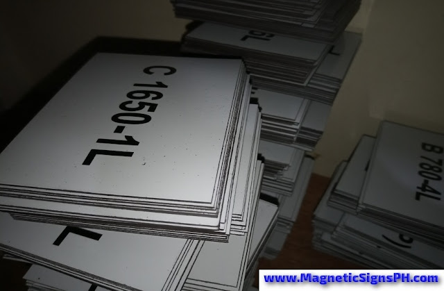 Magnetic Labels With Numbering for Warehouse