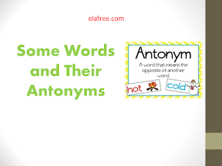 Some Words and Their Antonyms