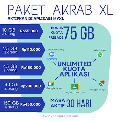 pilihan paket akrab xl