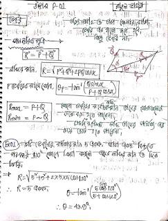 উদ্ভাস ক্লাসের নোট P-01(ভেক্টর) | ভেক্টর নোট Pdf ফাইল