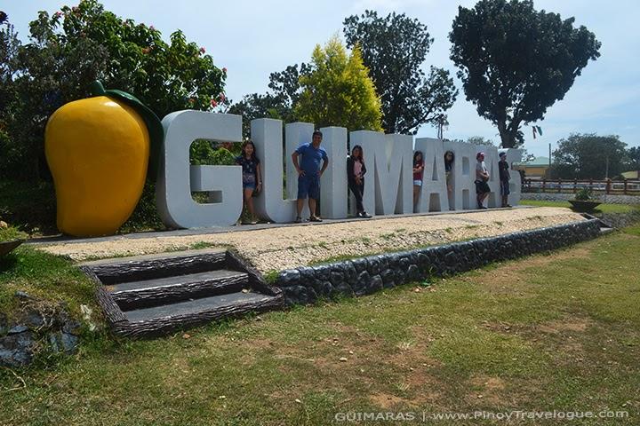 Guimaras landmark in front of Guimaras Capitol Building