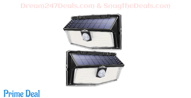 40% off LITOM 160LED Outdoor Solar Motion Sensor Lights