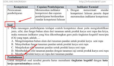 45+ Contoh Soal dan Pembahasan Ujian AKG Madrasah Materi Pedagogik