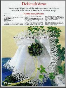 patron grafico crochet de puntilla delicada