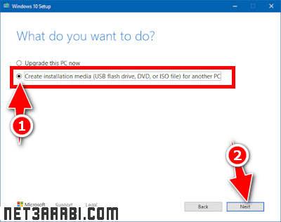 تحميل نسخة ويندوز 10 على فلاشة