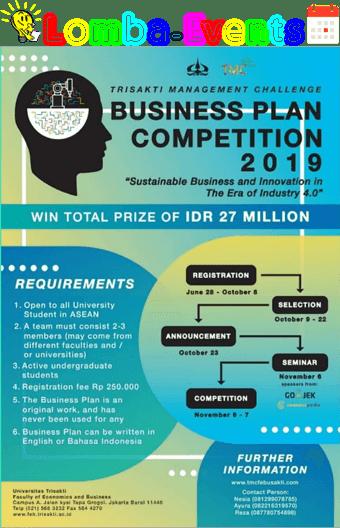 Lomba Business Plan TMC Trisakti 2019 Mahasiswa Se-ASEAN