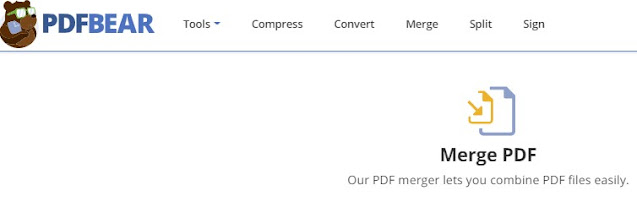 merge PDF on PDFBear