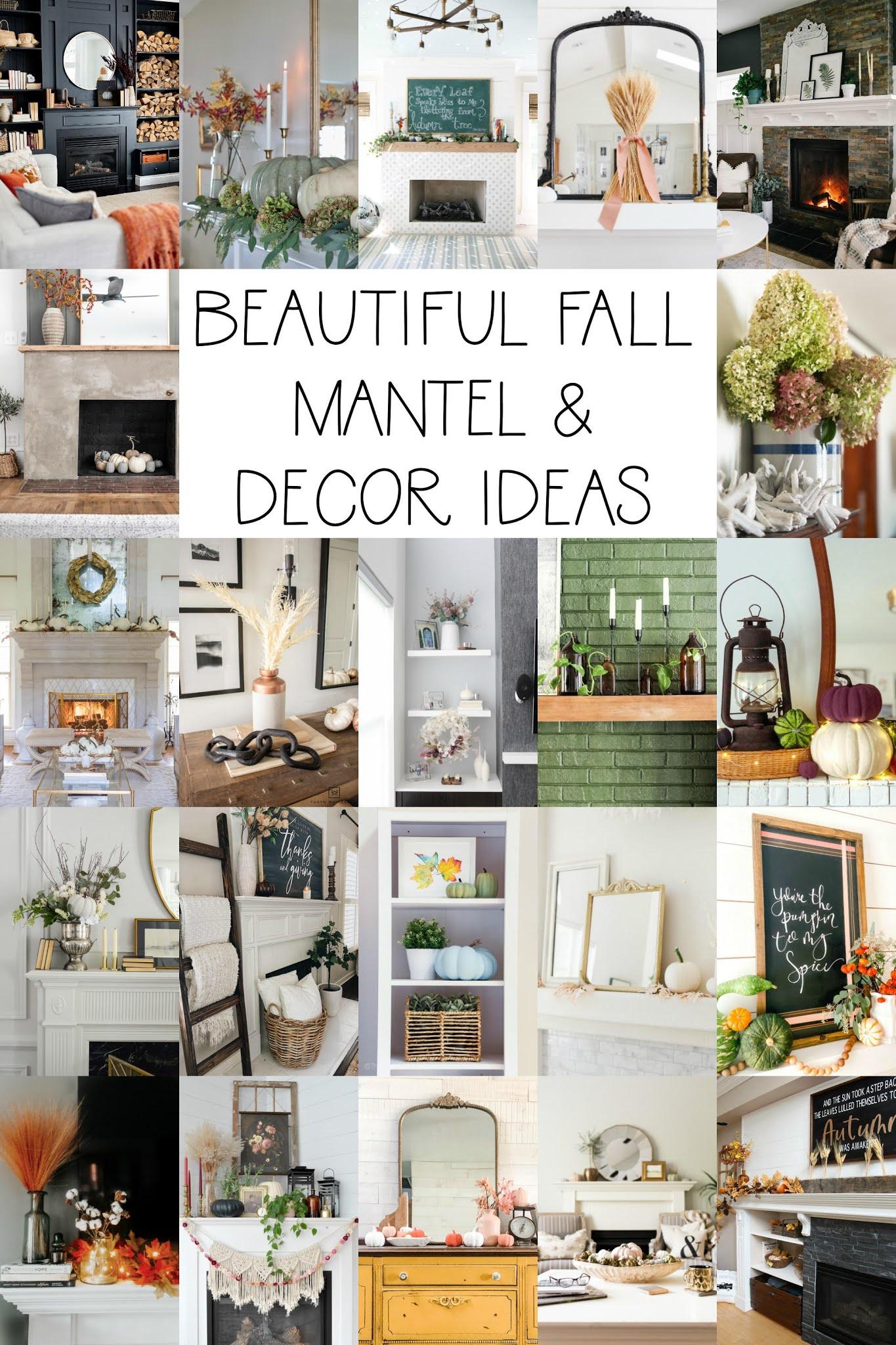 fall mantel decor ideas, fall mantle decor