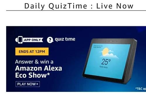 Amazon Alexa Echo Show Quiz