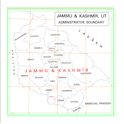 Map of Jammu and Kashmir Ut