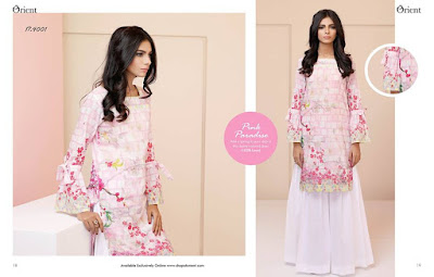 Orient ladies kurta lawn print designs for spring summer