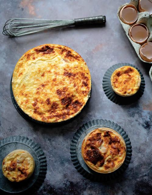 quiche lorraine , dîner de famille , lardons , pâte brisée , farine d'épeautre