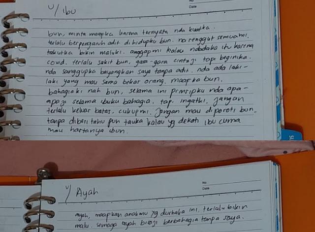 Ditemukan Gantung Diri, Begini Isi Surat Mahasiswi Putri Perwira Polri