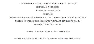 Permendikbud Nomor 16 Tahun 2019