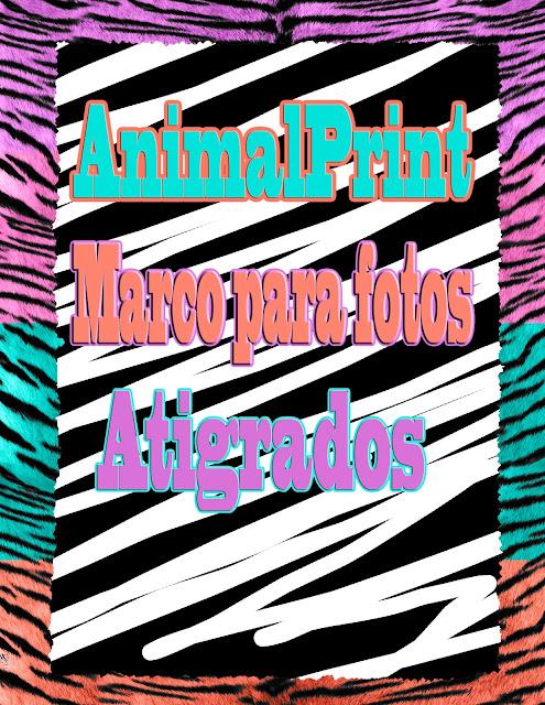 marco para fotos textura de animales