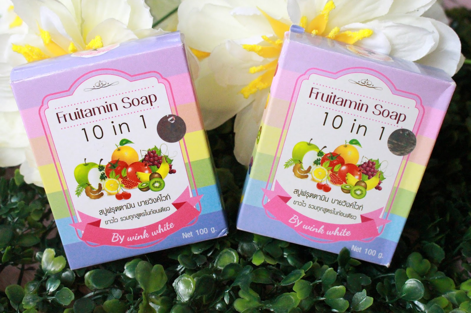 Thailand Soap Haul Bloominzahra Fruitamin 10 In 1 By Wink White 8000