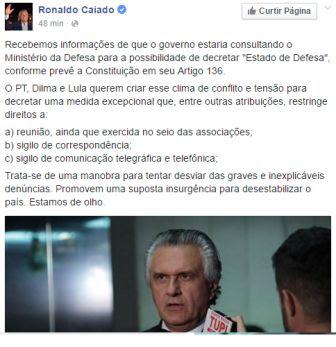 Site informa que Dilma quer dar golpe no Brasil