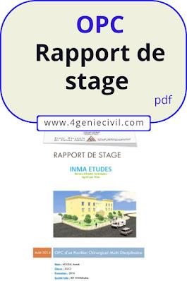 Exemple de rapport de stage OPC bâtiment