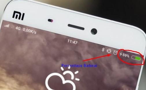 persentase Baterai di Xiaomi