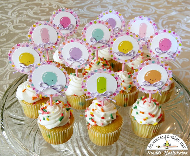 Doodlebug Design Fairy Tales Birthday Party Cupcake Toppers for Girls by Mendi Yoshikawa
