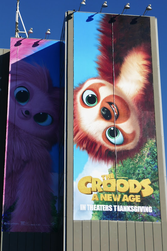 Croods A New Age movie billboard