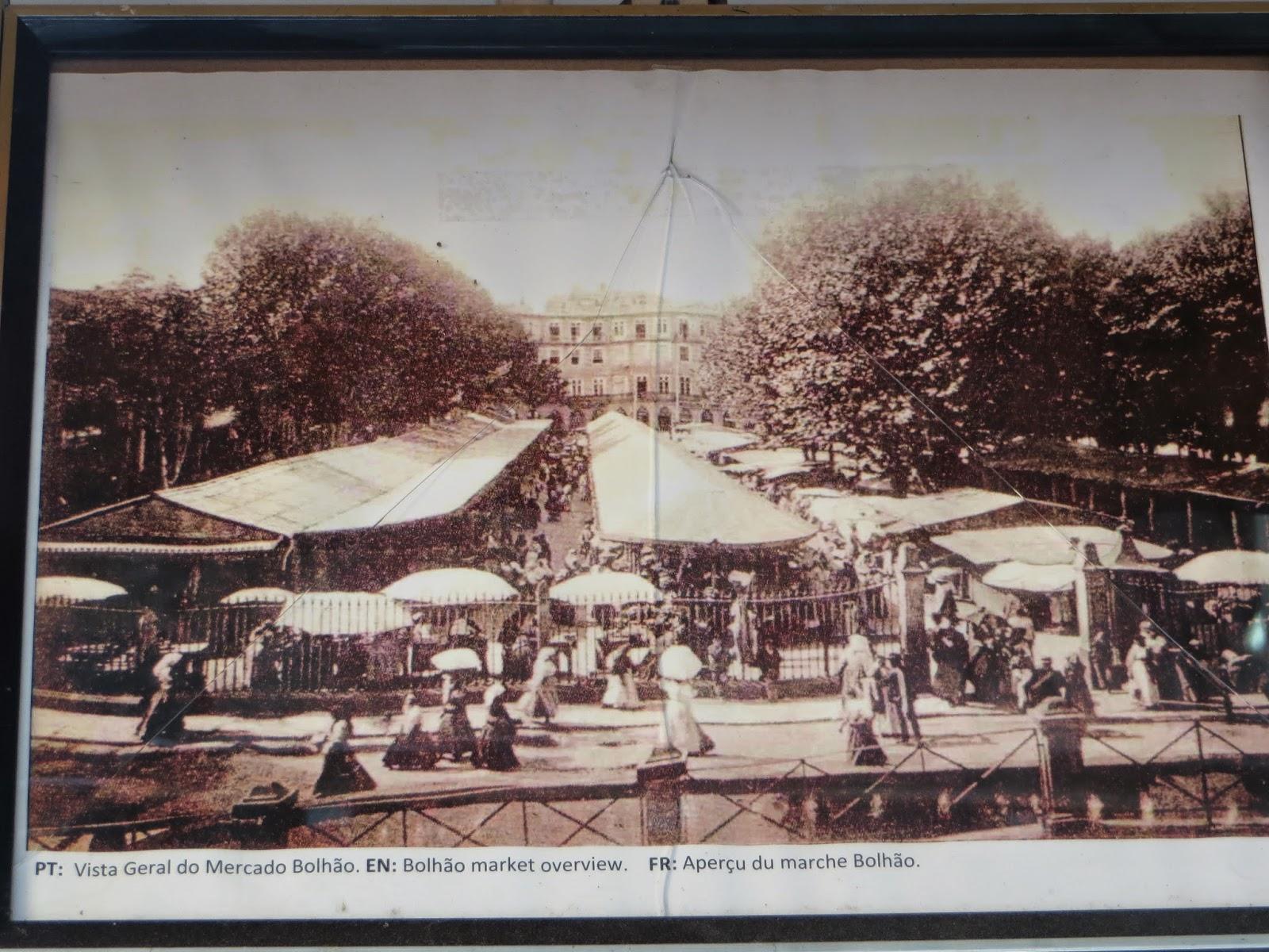 bolhao mercado porto portugal fotografia antiga