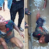 Young man receives enough beating after he was caught trying to steal a genarator in Sapele [photos]
