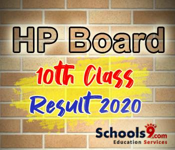 HP Board 10th Class Result 2020