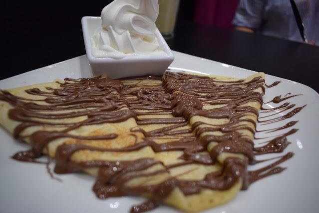 Kaspa's Desserts in Leeds Nutella crepe