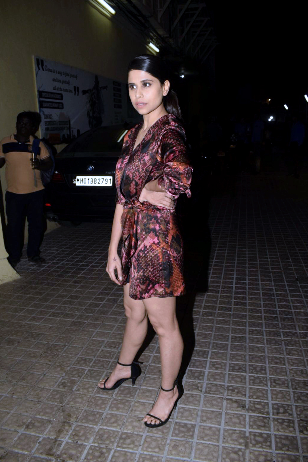 Sai Tamhankar Hot At Marathi Film Mauli Special Screening In PVR Theater