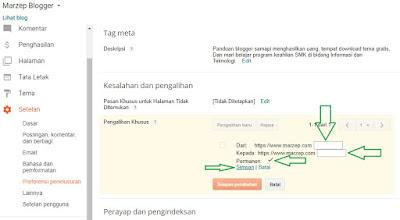 Cara agar pengunjung tidak hilang sesudah mengganti permalink blogspot