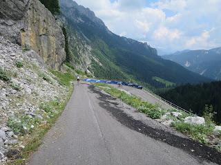 Gefährliche Abfahrt vom Lanzenpass, Passo Cason di Lanza
